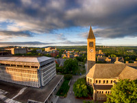 McGraw Tower, Uris Library and Olin Library, Cornell University, Ithaca NY