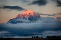 Alpenglow on Mount Moran