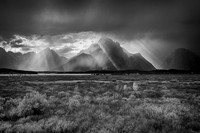Clearing Storm from Elk Flats #1 B&W