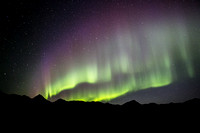 Aurora above the Alaska Range, Denali Highway