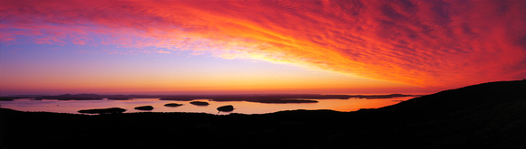 Sunrise over Frenchman Bay from Cadilac Mountain, Acadia NP, Maine