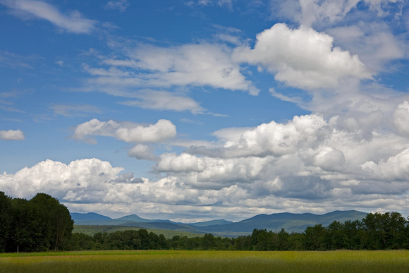 Fair-Weather Clouds over the Green Mountains, West Rutland