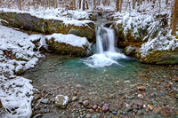 Early Snow at Clark Brook Falls, East Poultney