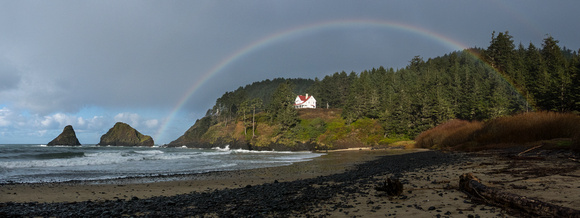 Rainbow over the Lightkeeper's House