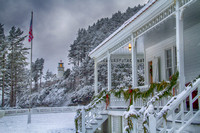 The Lightkeeper's house at Christmas: Heceta Head Lighthouse