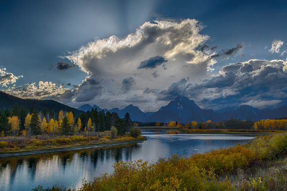 Approaching Storm over the Tetons