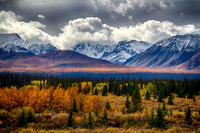 Autumn advances into the Wrangell Mountains, Alaska