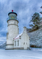 A Touch of Snow at Heceta Head Lighthouse