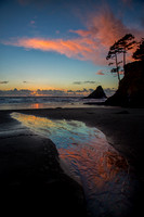 Sunset at Heceta Head Beach