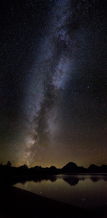 Milky Way over the Teton Range and Jackson Lake