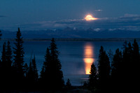 Full Moon over Yellowstone Lake